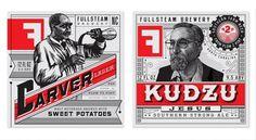 Brand Identity | Fullsteam Brewery | Helms Workshop #print #branding #typography