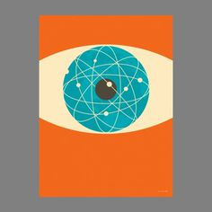 excites | Graphic Designer | Simon C Page #print #color #eye #illustration #poster #science