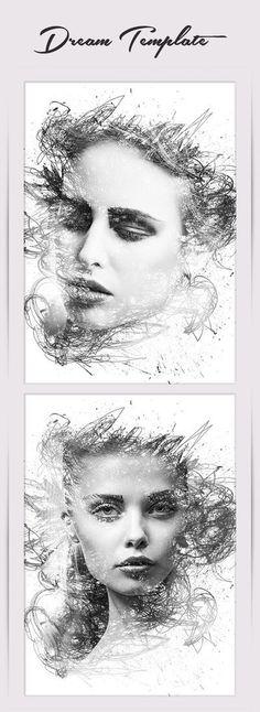 Dream Photo Template #girl #fashion #photoshop #photo #woman #lady #template