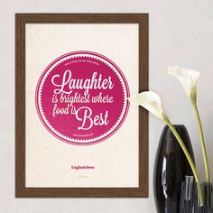 Laughter is Brightest kitchen wall print