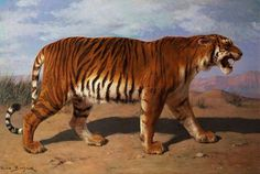 """Stalking Tiger"" by Rosa Bonheur #oil #painting #paintings"