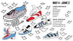 Juxtapoz Magazine In L.A.: 15 Years of Gonz and Adidas @ HVW8 Art #illustration