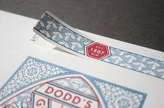 Dodd\'s gin letterpress label