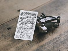 Bailey Hunter Robinson business card by Two Arms #lettering #business #card #two #arms #typography