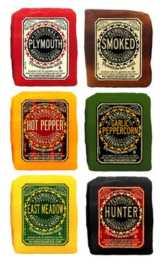 Plymouth Artisan Cheese - Packaging by Empress Branding #packaging #design #label #package #typography