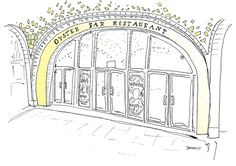 Grand Central Oyster Bar illustration