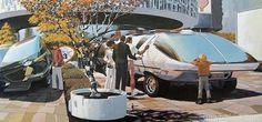 Retro-Futuristic Bus #bus #futurism #car #retro