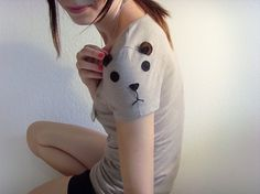 Beautiful Bear Tee Made to order by ThePetiteChouette on Etsy #bear #tshirt