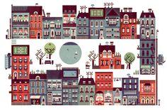 Uponor / Lotta Nieminen #city #illustration #building #texture