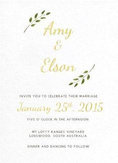 Olivia - Wedding Invitations #paperlust #weddinginvitations #weddingstationery #weddinginspiration #card #paper #design #foilstamped #raise