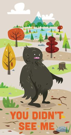 you didnt see me.jpg #sasquatch #hills #monster #stump #lake #forest #bigfoot #trees #creature