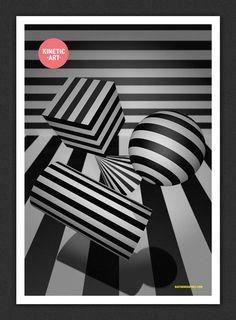 Kinetic Art #white #print #black #digital #poster #kinetic