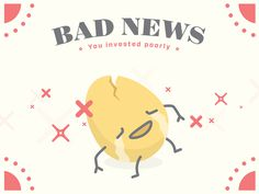 Egg, Error, Bad News, Game, Character, Illustration