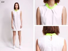 asu aksu / collections / ss2012 borderline no 20 #asu #white #collection #aksu #borderline #summer #fashion #neon