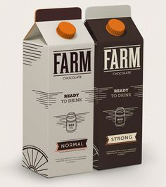 Concept:Â FARM The Dieline #packaging #vintage #food