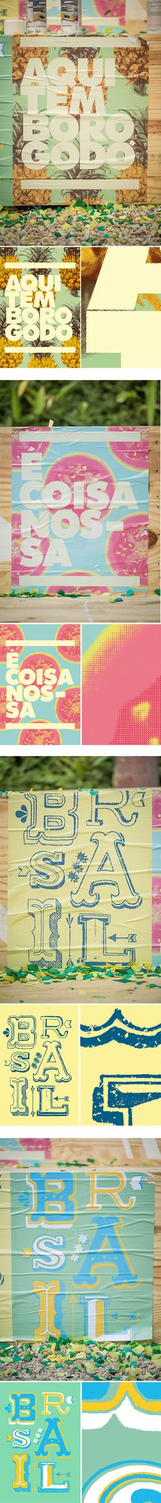 Fifa World Cup 2014 on Behance #typography #poster #lettering #fruit #world cup #brazil
