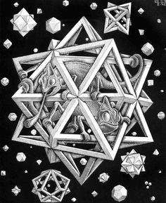 Escher Woodcut