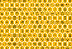 Adisgladis by Bedow #pattern #icons #yellow #exagons