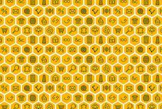 Adisgladis by Bedow #pattern #icons #yellow #exagons
