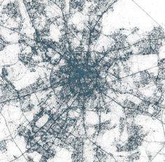 CJWHO ™ (Major Metropolises Visualized Through Tweets 1....) #metropolises #design #landscape #moscow #illustration #tokyo #twitter #art #york #europe #new
