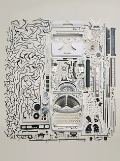 Old_Typewritter.jpg (901×1200) #torn #pieces #scattered #apart #typemachine