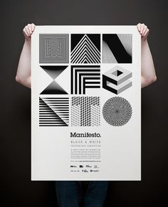 Manifesto. on the Behance Network #manifesto #line #white #and #black #poster #contrast #typography