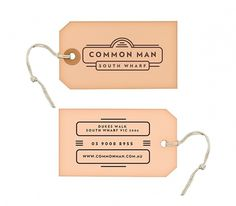 Common Man - Restaurant on the Behance Network #branding #label #tag