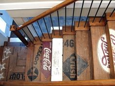 Fancy #staircase #recycle #stairs #home #signage