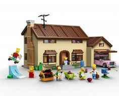 Lego Simpsons Set – Fubiz™ #simpsons #toys #simposons #lego