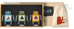 roller-bots play set #toys #once #wood #kids #robots