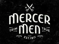 Dribbble - Mercer Men by Simon Walker #logo #vintage