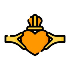 See more icon inspiration related to claddagh ring, cultures, Irish and jewel on Flaticon.