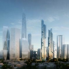 Dancing Dragons by Adrian Smith and Gordon Gill Architecture #architecture #skyscraper