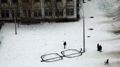 streetlight reflecting #glasses #cold #snow #art #street #light #streetlight