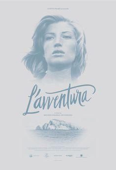 L'AVVENTURA Sam's Myth #lettering #movie poster #monochromatic #sam smith