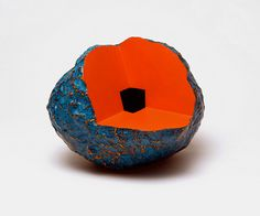 ⟁⟁⟁ Prism Of Threads ⟁⟁⟁ #sculpture #orange #stone