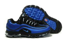 Mens Air Max 24 7 Black Blue Spark White Shoes #shoes