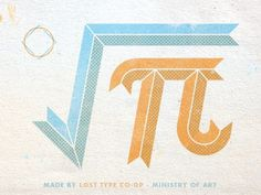 Lost Type Co-op #math #textured #type #orange #vintage #blue