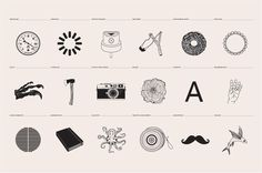 Grid | Ashwin Patel | A Studio Life #icons #illustrations #studio #life