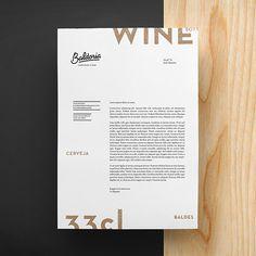 Baldoria – Garrafeira x Bar on Behance #layout