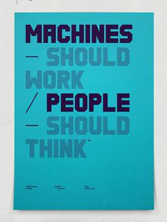Ee #machines #poster #people