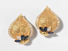 Saphir-Diamant-Ohrclips