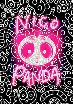 nicopanda #nicopanda #hello kitty #panda #illustration