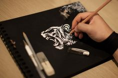 Attachments #tiger #drawing