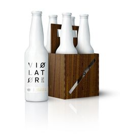 Ross Burwell | VIØLATØR #violator #bottle #packaging #wood #logo