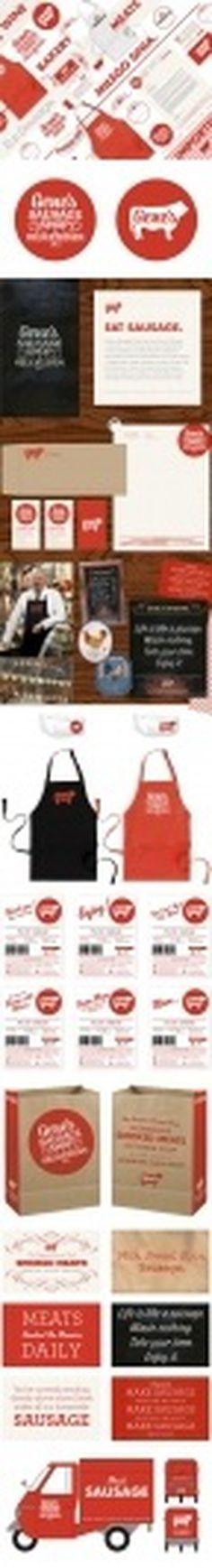 Design;Defined | www.designdefined.co.uk #food #label #brand #meat #identity #stationery #logo #knoed