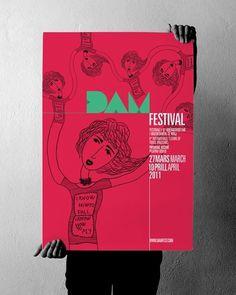 projectgraphics - typo/graphic posters #kosovo #2011 #festival #prishtina #projectgraphics #poster #dam