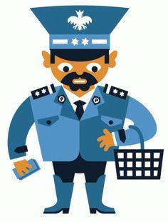 Peryskop Policjant - jan kallwejt archives #illustration