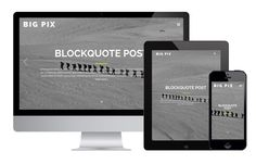 Big Pix : Free Responsive Blogging WordPress Theme