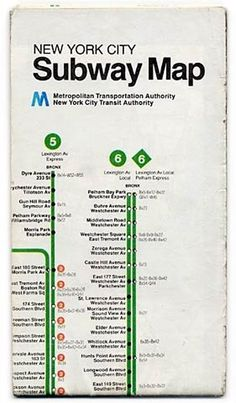 New York City Subway Map - Metropolitan Transportation Authority #vintage #subway map #new #york #city #metro